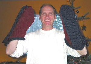 Giant knit slipper