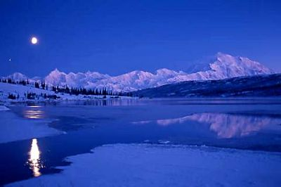 Moonrise over Denali, Mike Weber Photography