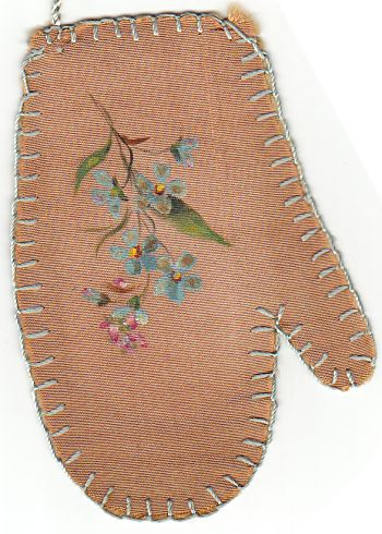 Stitching for Literacy, via Bibliobuffet, Lauren's mittens bookmark, close