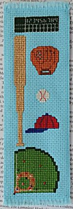 Cross stitch bookmark pattern: Play Ball! by Funk & Weber Designs