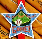 Baseball bookmark cross stitch pattern, Going, Going, Gone! by Funk & Weber Designs