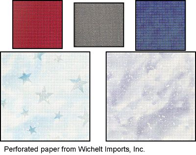 Stitching for Literacy, perforated paper for embroidery from Wichelt Imports, Inc.