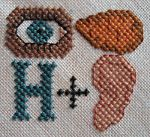 Cross stitch bookmark pattern by Funk & Weber Designs