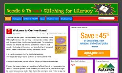 New Stitching for Literacy website