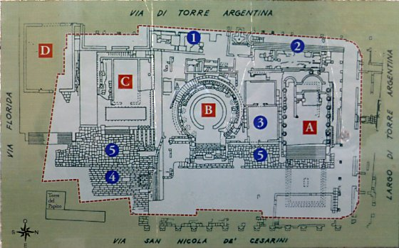 A blueprint of Area Sacra di Largo Argentina