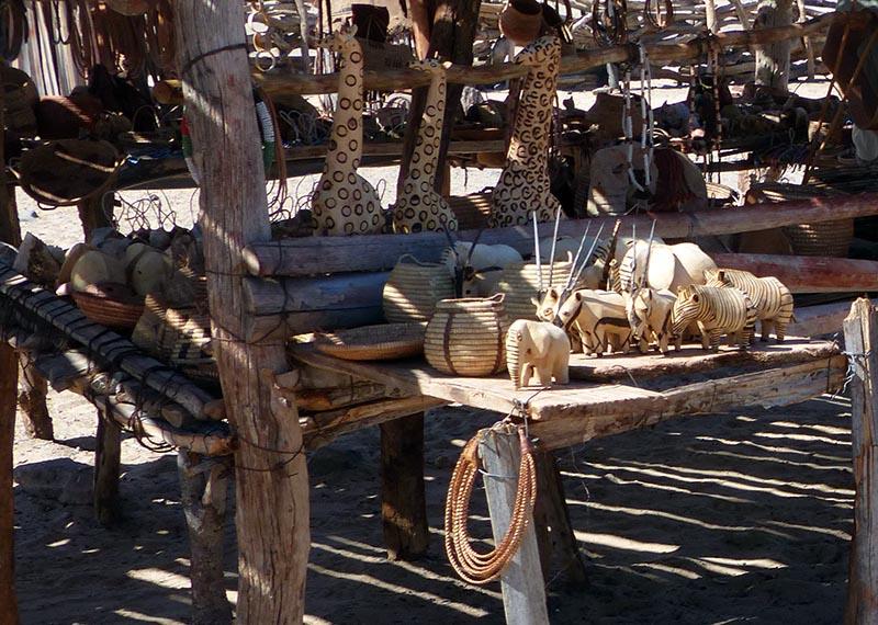 Himba handicrafts.