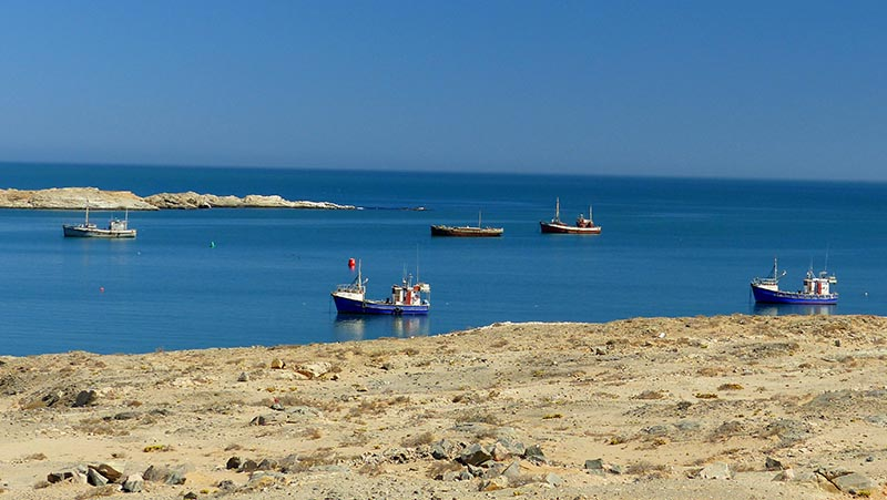 Calm water in Luderitz, Namibia