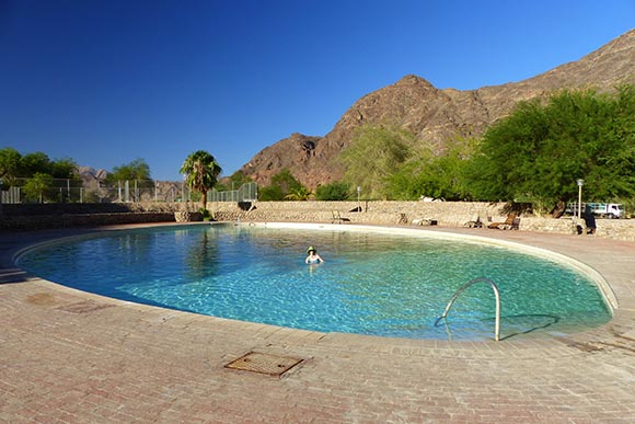 Pool at Ai-Ais Hot Springs Resort, Namibia