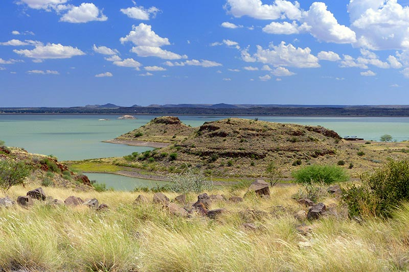 The lake at Hardap Dam, Namibia