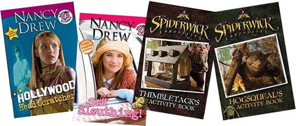Nancy Drew and Spiderwick Chronicles Activity Books