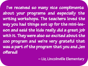 Jen Funk Weber and Linda Stanek school visit teacher testimonial