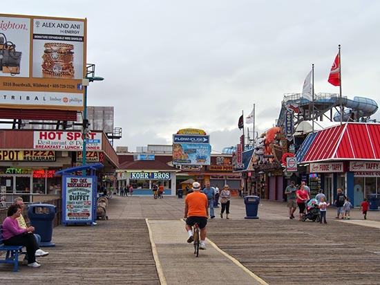 The Boardwalk in Wildwood, NJ