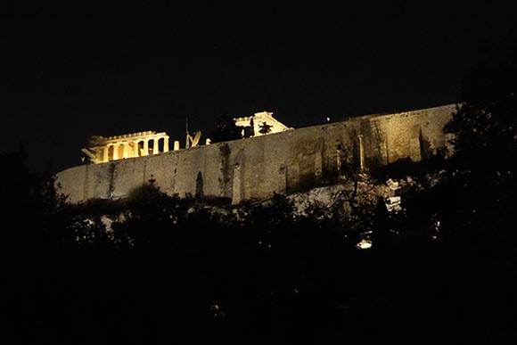 The Acropolis at Night - Jen Funk Weber