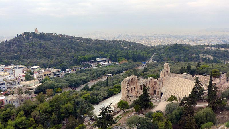 The Odeon of Herodes Atticus from the Acropolis - Jen Funk Weber