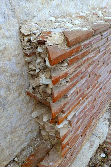 Roman Brickwork at Hadrian's Library in Athens - Jen Funk Weber