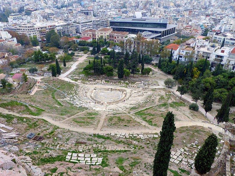 Theater of Dionysus from the Acropolis - Jen Funk Weber