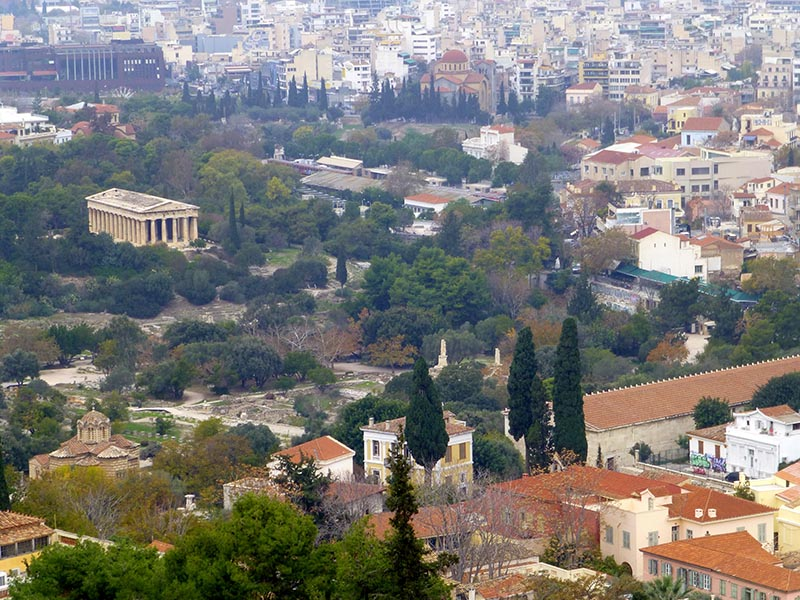 Agora and Temple of Hephaestus from the Acropolis - Jen Funk Weber