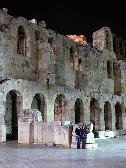 Outside the Odeon of Herodes Atticus - Jen Funk Weber