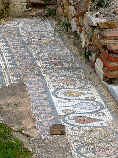 Mosaic floor, Hadrian's Library, Athens - Jen Funk Weber