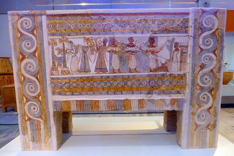Ayia Triada Sarcophagus, Heraklion Museum, Crete, Greece - Jen Funk Weber