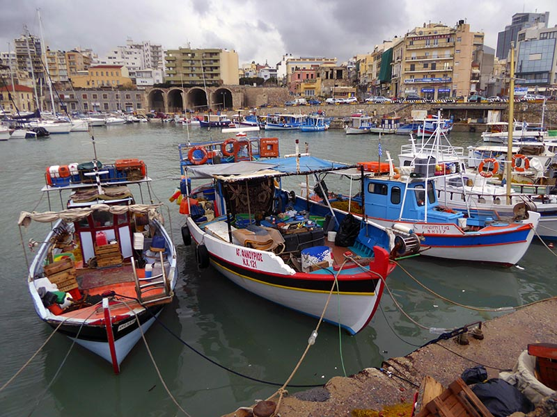 Boats in Heraklion, Crete, Greece - Jen Funk Weber