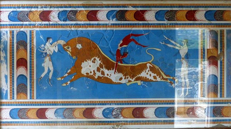 Bull-dancing fresco, Knossos, Crete, Greece - Jen Funk Weber