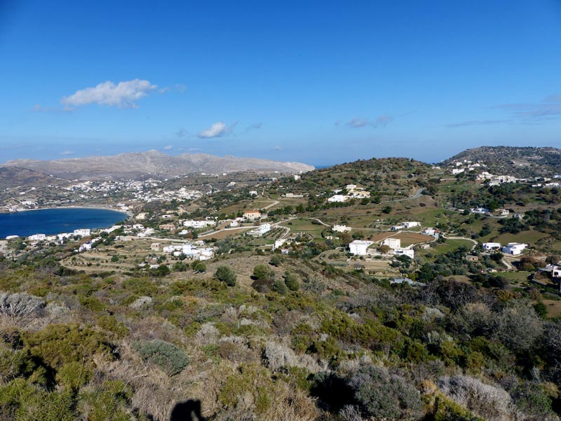 Dhrymonas and Ghourna towns, Leros - Jen Funk Weber