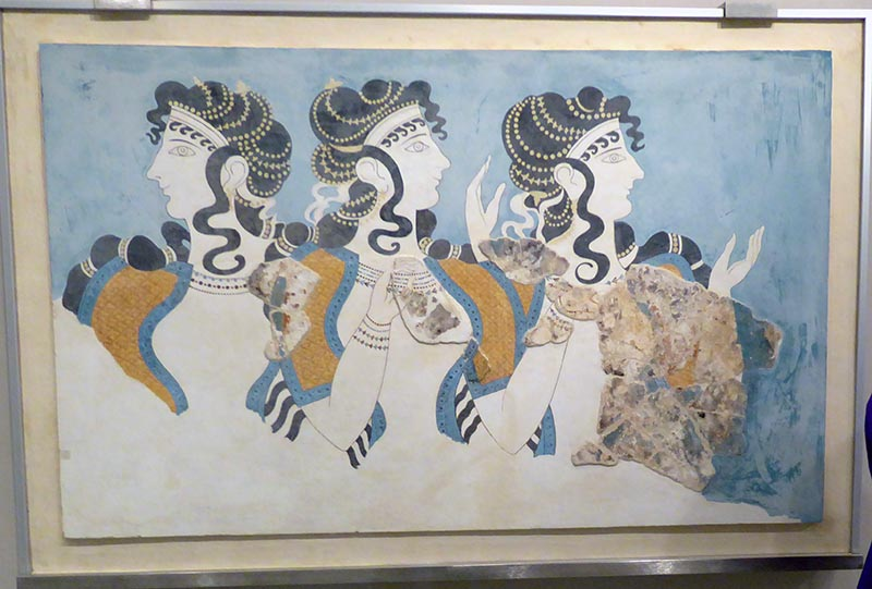 Ladies in Blue original pieces, Heraklion Museum, Crete, Greece - Jen Funk Weber