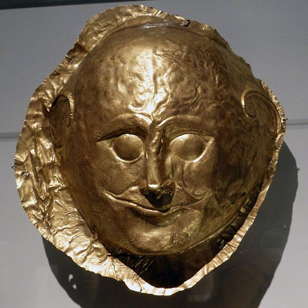 Mycenaean Funeral Mask, National Archaeological Museum, Athens