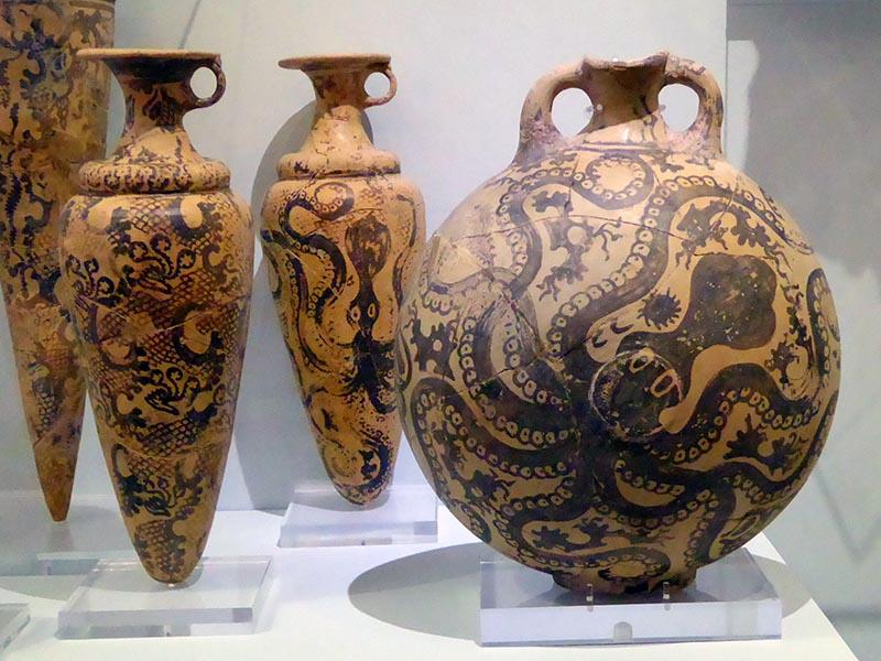 Octopus Motif, Heraklion Museum, Crete, Greece - Jen Funk Weber