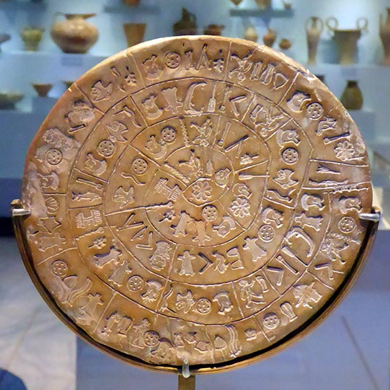Phaestos Disc, Heraklion Museum, Crete, Greece - Jen Funk Weber