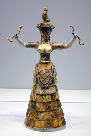 Snake Goddess figurine found at Knossos, Heraklion Museum, Crete, Greece - Jen Funk Weber