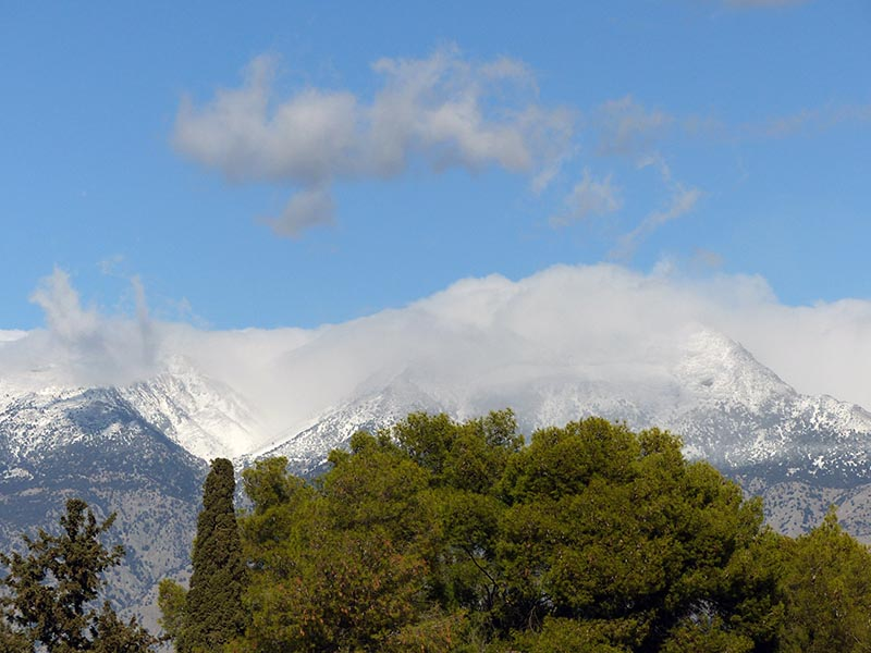 Snow on Mt. Idi, Crete, Greece - Jen Funk Weber