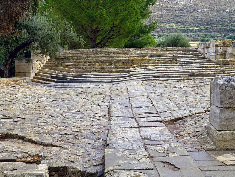 Theater area, Royal road, Knossos, Crete, Greece - Jen Funk Weber