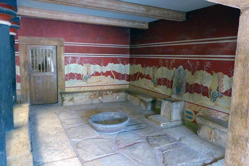Throne room, Knossos, Crete, Greece - Jen Funk Weber