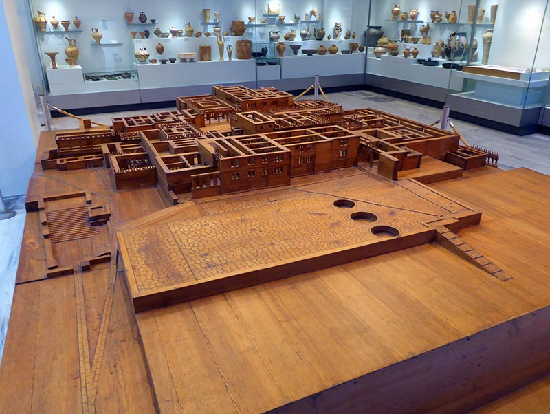 Wood Knossos Model, Heraklion Museum 01, Crete, Greece - Jen Funk Weber
