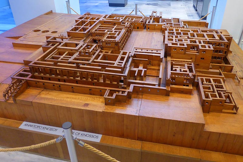 Wood Knossos Model, Heraklion Museum 02, Crete, Greece - Jen Funk Weber
