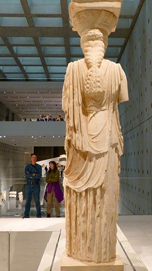 Caryatid back, New Acropolis Museum - Jen Funk Weber