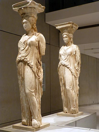 Caryatids from the Erechtheion, New Acropolis Museum - Jen Funk Weber