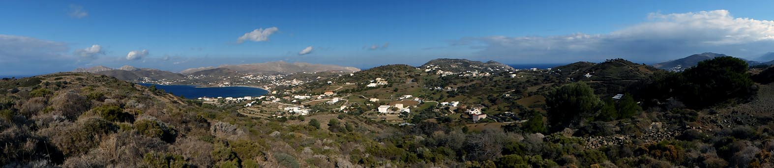 Panorama of Dhrymonas and Ghorna, Leros, Greece - Jen Funk Weber