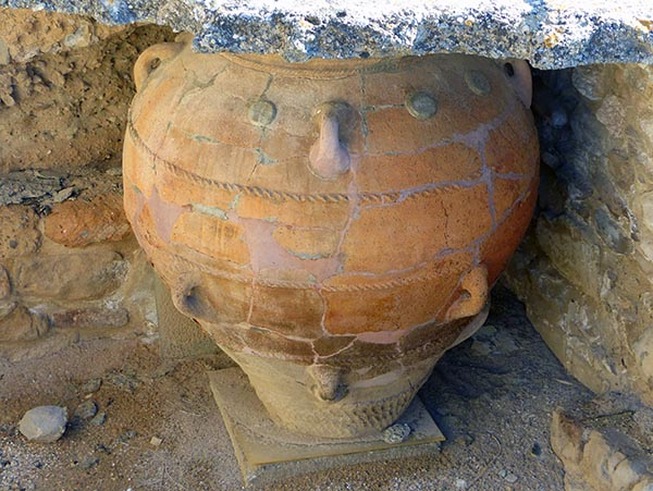 Clay pot at Phaestos, Crete, Greece - Jen Funk Weber