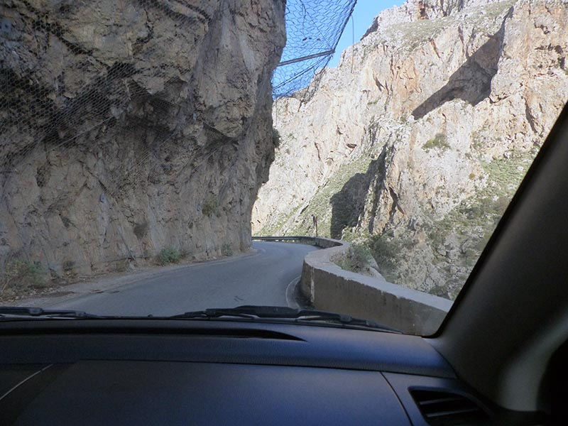 Curving roads, driving on Crete - Jen Funk Weber