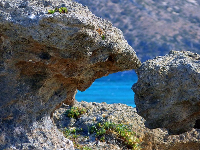 Rock formations and turquoise water at Elafonisi, Crete - Jen Funk Weber
