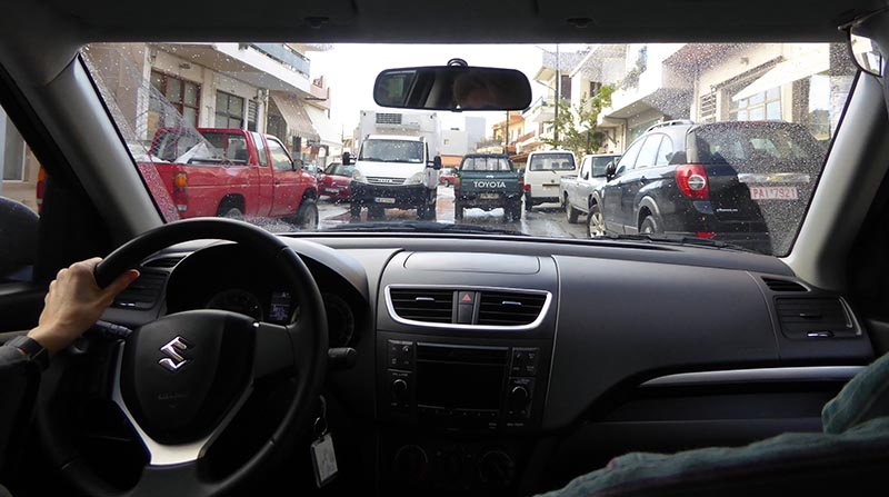 Willy-nilly activity, Driving in Greece - Jen Funk Weber