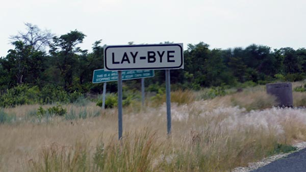 Lay-bye sign