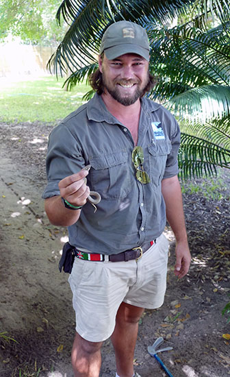 Mark Flatt with young cape cobra