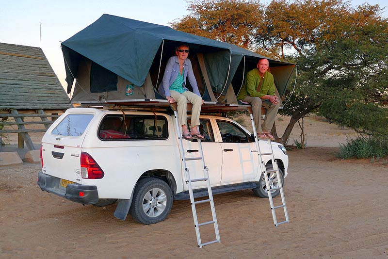 Rooftop tents, Kgalagadi Transfrontier Park, photo NOT by Mike Weber. Huh. Fancy that.